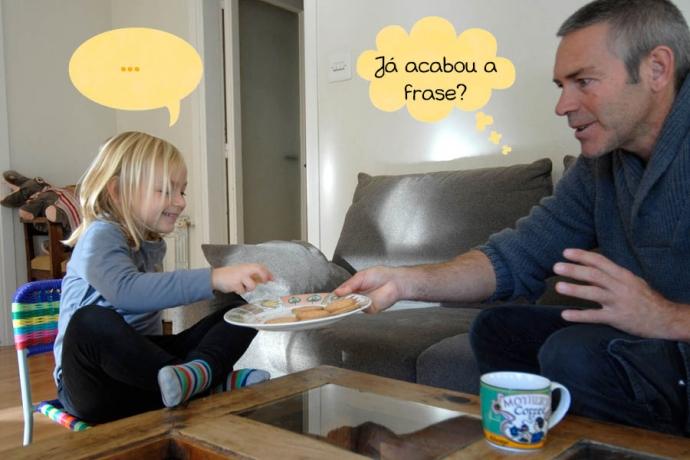 C: ... Pai: Já acabou a frase?