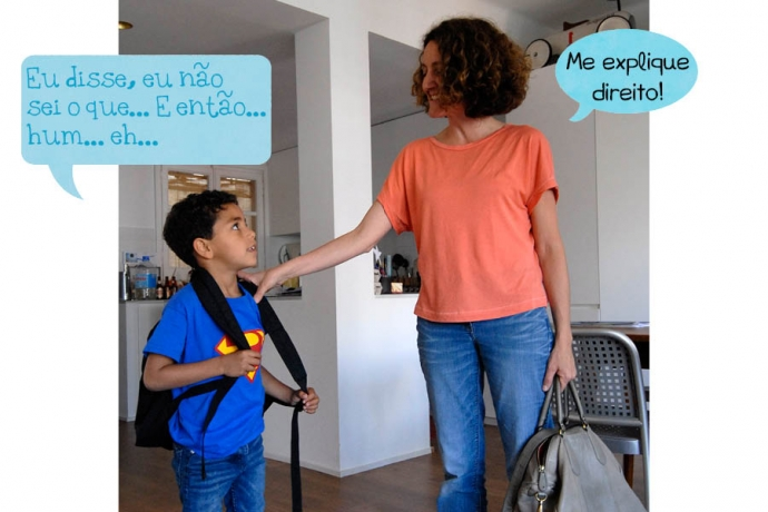 C: Eu disse, eu não sei o que… E então… hum… eh… Mãe: Me explique direito! Os especialistas dizem: As crianças usam esses recursos para: • relacionar as unidades da fala; • dar tempo para o intercâmbio; • dar-se um tempo para pensar; e • estruturar o próprio discurso.